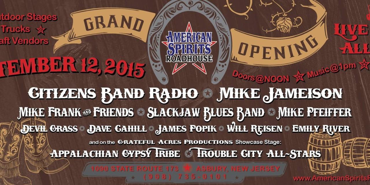 American Spirits Roadhouse Grand Opening 9/12