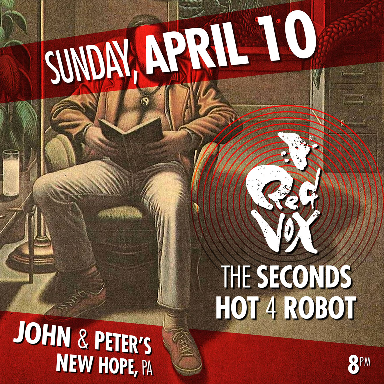 Red Vox, The Seconds & Hot 4 Robot live at John & Peter's
