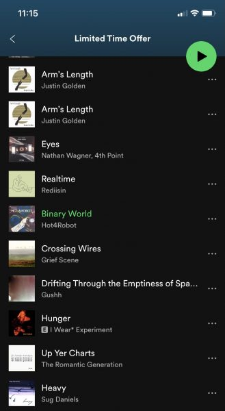 Binary World & Blue Screen added to blog-curated Spotify Playlists